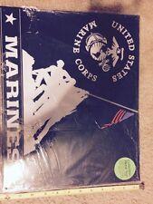 """Marines Memorial USMC Collectible Metal 12"""" x 15"""" Decorative Tin Sign"""