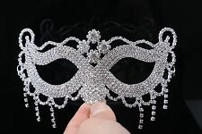 Hot Sexy Tassels Rhinestone Crystal Masquerade Eye Mask Fancy Halloween Costumes