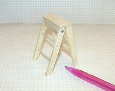 "Miniature Folding Wood Step Ladder, 2"" Tall: DOLLHOUSE Miniatures 1/12 Scale"