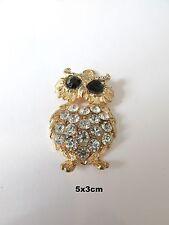 Color de Oro 2 un. Colgantes de búho con diamantes de imitación fabricación de joyas Craft UK