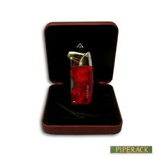 Promise Pipe Lighter with Pipe Tools Red Grain Finish Electronic Lighter Angled
