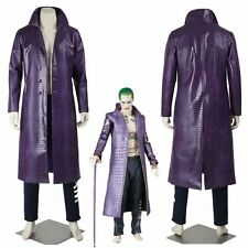 Joker Costume Trench Coat Suicide Squad Cosplay Costumes