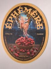 Beer Coaster ~*~ UNIBROUE Brewing Co. Ephemere Cranberry Flavored Ale ~*~ CANADA