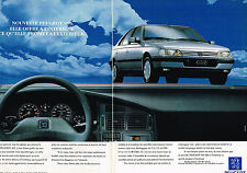 PUBLICITE ADVERTISING 035  1992  PEUGEOT  405 SRI AM  ( 2 pages)