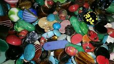 Vintage Glass Flat-back Cabochons mixed Lot of 25. Scrapbook, Jewelry & Crafts