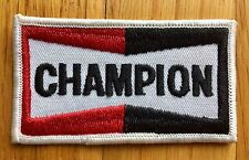 Champion Vintage Embroidered Iron On Patch, Spark Plug, Automotive, Motorcycle