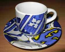 Antoni Gaudi Abstract Mosaic Demitasse Cup & Saucer Ming Spain 2 oz