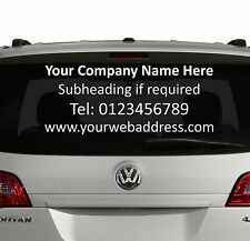 Rear Window Custom Car Vinyl Graphics Sticker - BUSINESS ADVERTISING bespoke SI7
