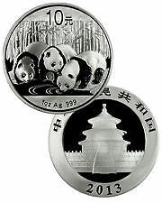 2013 China Panda 1oz .999 Silver Coin with original box (UNC)
