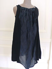 NANORI Black Korean-Japanese Street Fashion Blogger Style Dress Tunic M/L