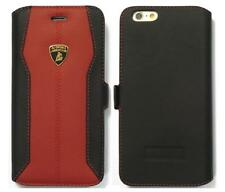 "Lamborghini Huracan-D1 Leather Ultra Slim Flip Case for iPhone 6 / 6s (4.7"") RD"