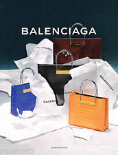PUBLICITE ADVERTISING 065  2014  BALENCIAGA  boutique maroquinerie sacs