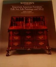 Sotheby's Catalog AMERICAN FURNITURE Folk Art, Paintings & Silver Oct 1987 5622