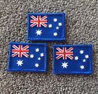 Lot of 3 Australia Flag Iron On or sew On Badges - Australian Flag Patch
