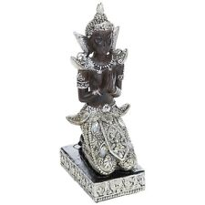 Thai Buddha Kneeling Medium 23cm Silver Gold Statue Ornament Figurine