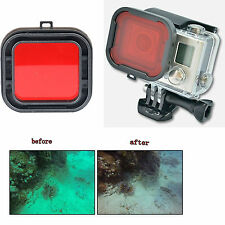 Red Polar Filter Lens For GoPro HD Hero 4 3+ Scuba Diving Tropical Water Sea
