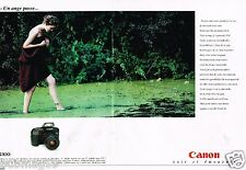 Publicité advertising 1991 (2 pages) Appareil photo Canon EOS 100