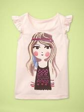 NWT 12-18 MON. BABY GAP GIRL WITH FEATHER HEADBAND T PINK TOP SHIRT TANK TWINS