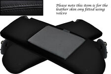 BLACK STITCHING FITS TOYOTA LEXUS SOARER 90-00 2X SUN VISORS LEATHER COVERS