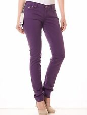 "Gas Womens Britty Gabardine Wine Pants 30"" x 34"" BNWT Slim Jeans 58908 10 12"