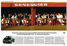 Publicité Advertising 1992 (2 pages) VW Volkswagen Passat VR6 Sénéquier St Trop