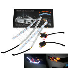 2 X 8LED Switchback Flowing LED Flexible Strip Light Sequential Signal Headlight