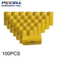 Wholesale Lot 100 pcs Ni-Cd C size Battery 3000mAh Flat Top For Battery Pack