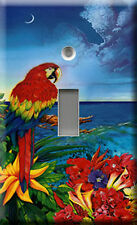 Single Light Switch Plate Cover - Parrot Dice