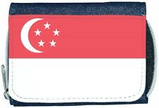 Singapore Flag Denim Wallet