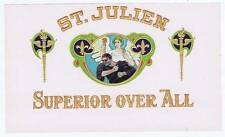 St. Julien, original inner cigar box label, superior over all, angel and demon