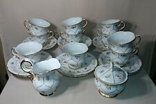 Lot Of 10 Sets Antique Meissen Cup and saucers Sword Mark with Creamer and sugar