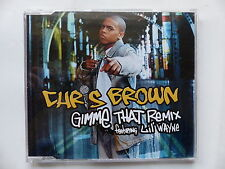CD 2  titres promo CHRIS BROWN Gimme that remix Feat LIL WAYNE 82876 81752 2