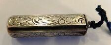Vintage Europe 900 Silver Fancy Scroll Work Lipstick Holder Part of Chatelaine ?