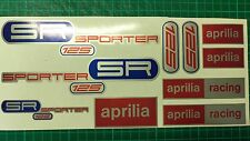 Aprilia SR125 SPORTER decals, stickers, graphics, racing SR 125 blue Red silver