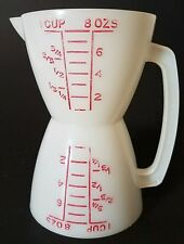 Vintage Tupperware Wet Dry Measuring Cup 1 Cup 8 ounces