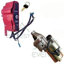 IGNITION SWITCH BOX WITH KEYS & STARTER MOTOR W/ SOLENOID FOR HONDA GX340 GX390