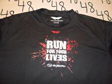 XL- Dri Fit Run For Your Lives Subaru / Damaged T- Shirt