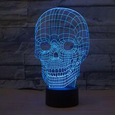 3D USB Skull Lamp LED Night Light  Touch Switch For Party