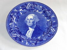 Wedgwood China Blue Transferware Plate ~ GEORGE WASHINGTON ~