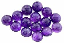 FIVE 12mm Round Natural Feathered Light Medium Amethyst Cab Cabochon CLOSEOUT