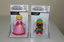 "NEW World of Nintendo Lot Deku Link and Peach Action Figure 2.5"" Series 1-6"
