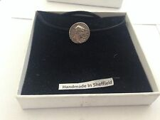 Hadrian Coin HADPIN Pewter Emblem ON A BLACK CORD Necklace Handmade