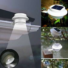 3LED Outdoor Solar Powered LED Wall Path Landscape Mount Garden Fence Light Lamp