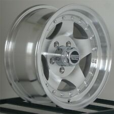 15 inch Wheels Rims Jeep Wrangler Ford Ranger Machined 5 x 4.5 Lug NEW SET of 4