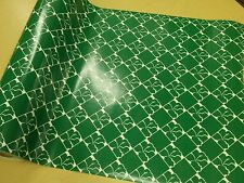 Half ream 26 inch wide Green gloss flower floral gift wrap 417 feet