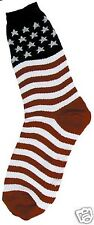 Foot Traffic Stars And Stripes Red White And Blue Womans Crew Socks New