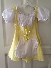 Yellow Gingham peasant/country girl dance costume, Dress, M, cotton blend