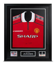 Sir Alex Ferguson Signed Shirt Framed Man Utd Autograph Treble Memorabilia + COA