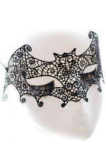 BN Punk Black Lace Bat Mask Costume Halloween Dance Party Eye Mask Women Party