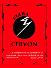 Ultra Cervon Magic Book-1st Ed-Coins Cards-CloseUp Sleights-Stage Trick Illusion